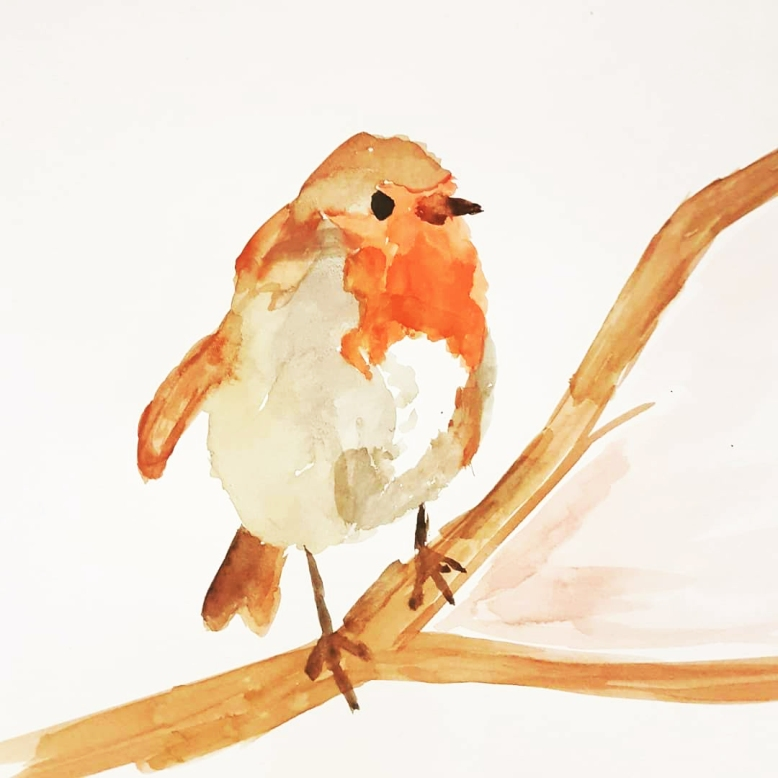 watercolourrobin